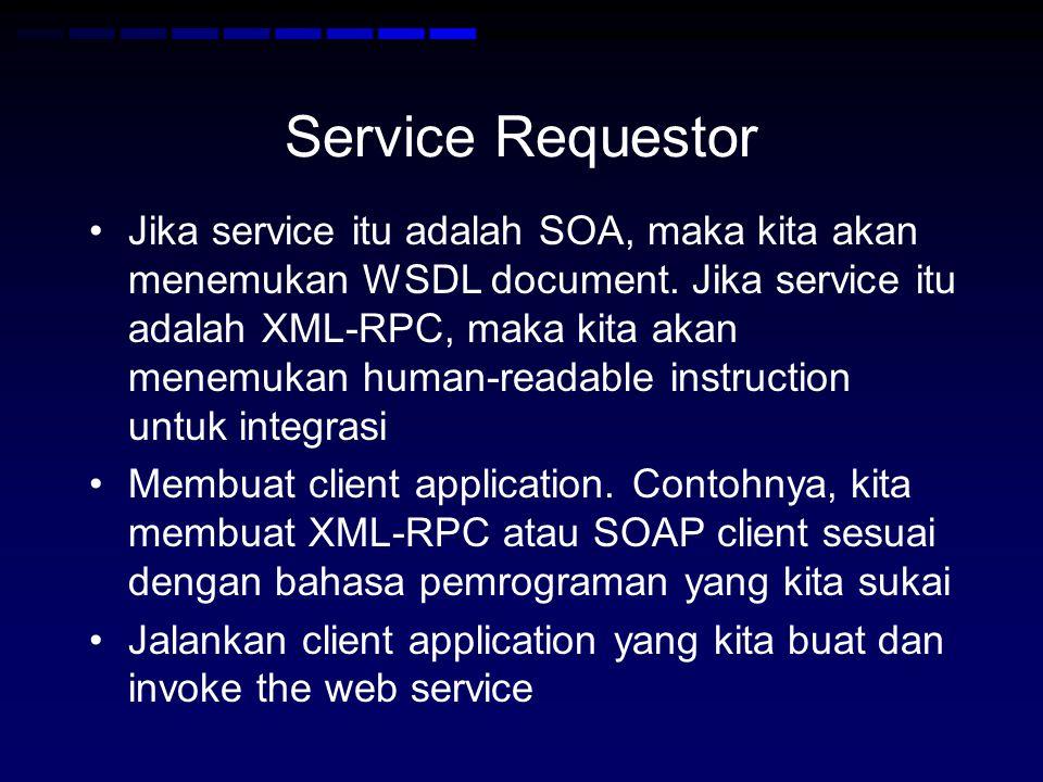 Service Requestor