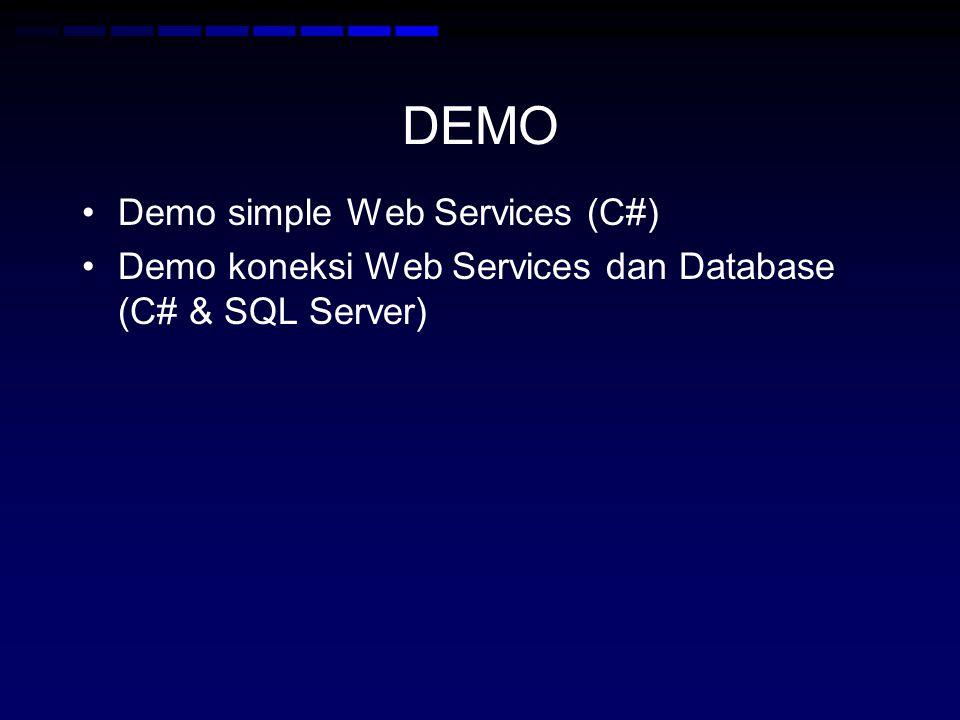 DEMO Demo simple Web Services (C#)