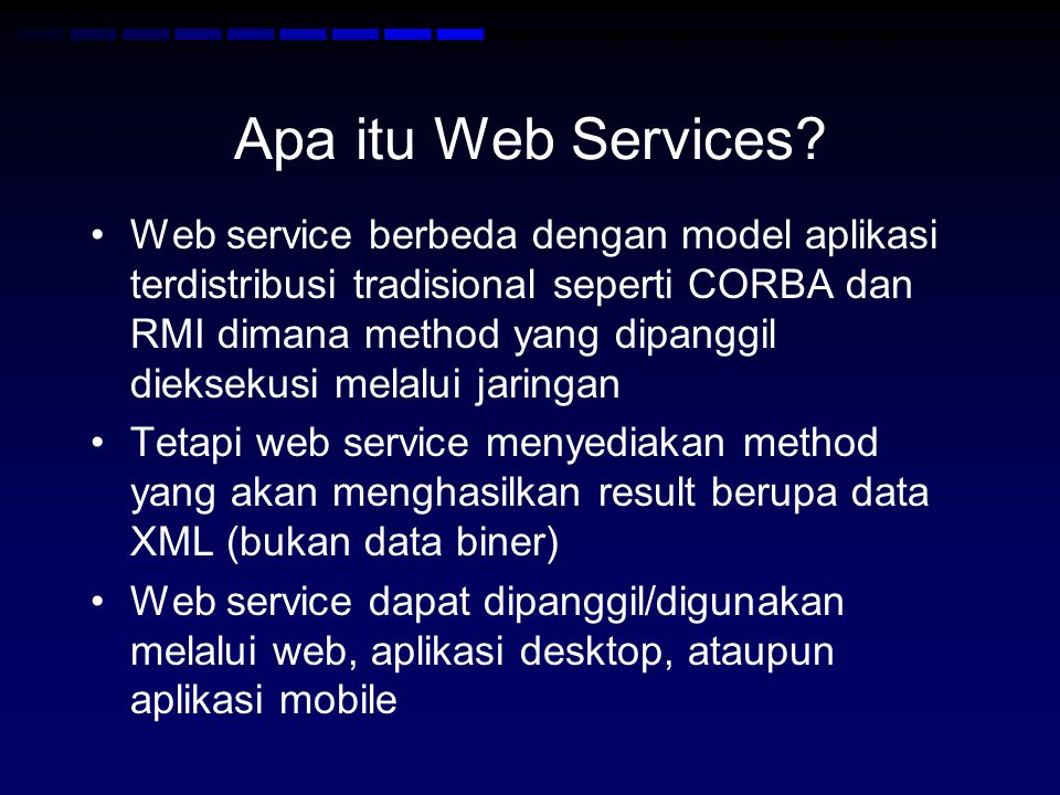 Apa itu Web Services