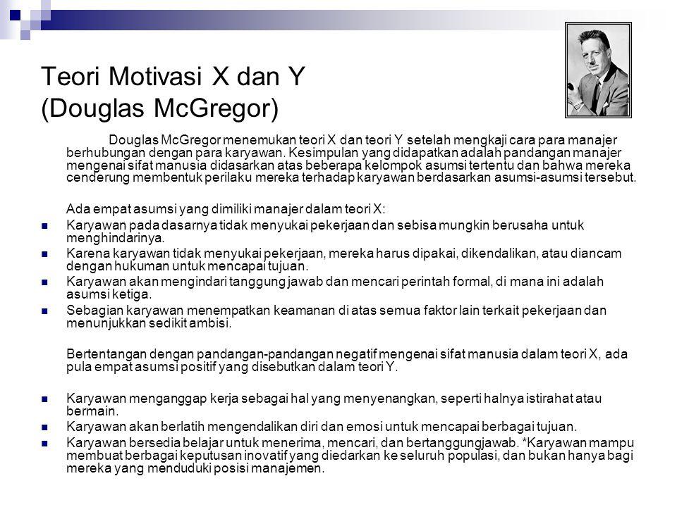 Teori Motivasi X dan Y (Douglas McGregor)