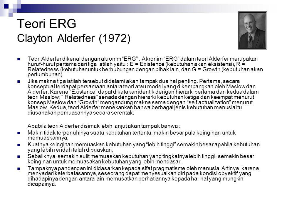 Teori ERG Clayton Alderfer (1972)