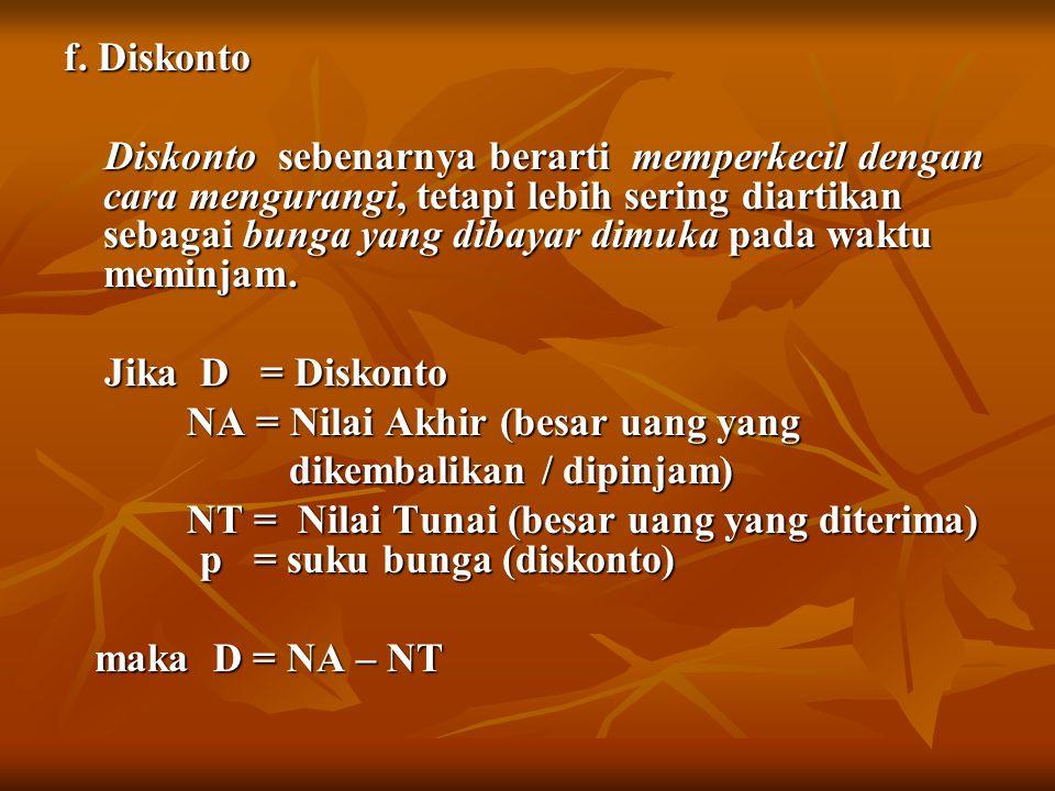 f. Diskonto