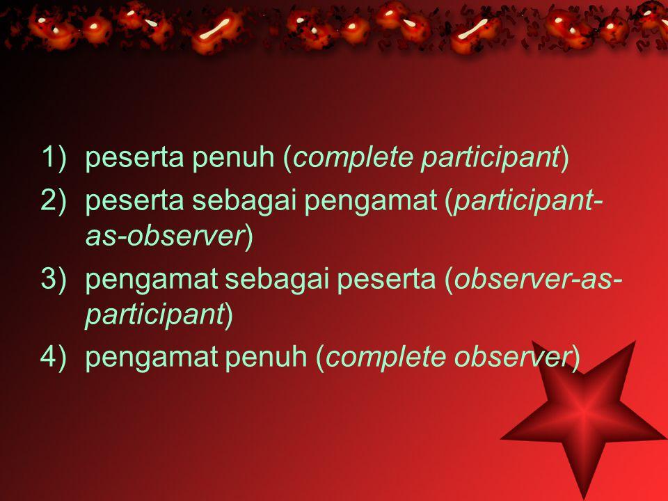 peserta penuh (complete participant)