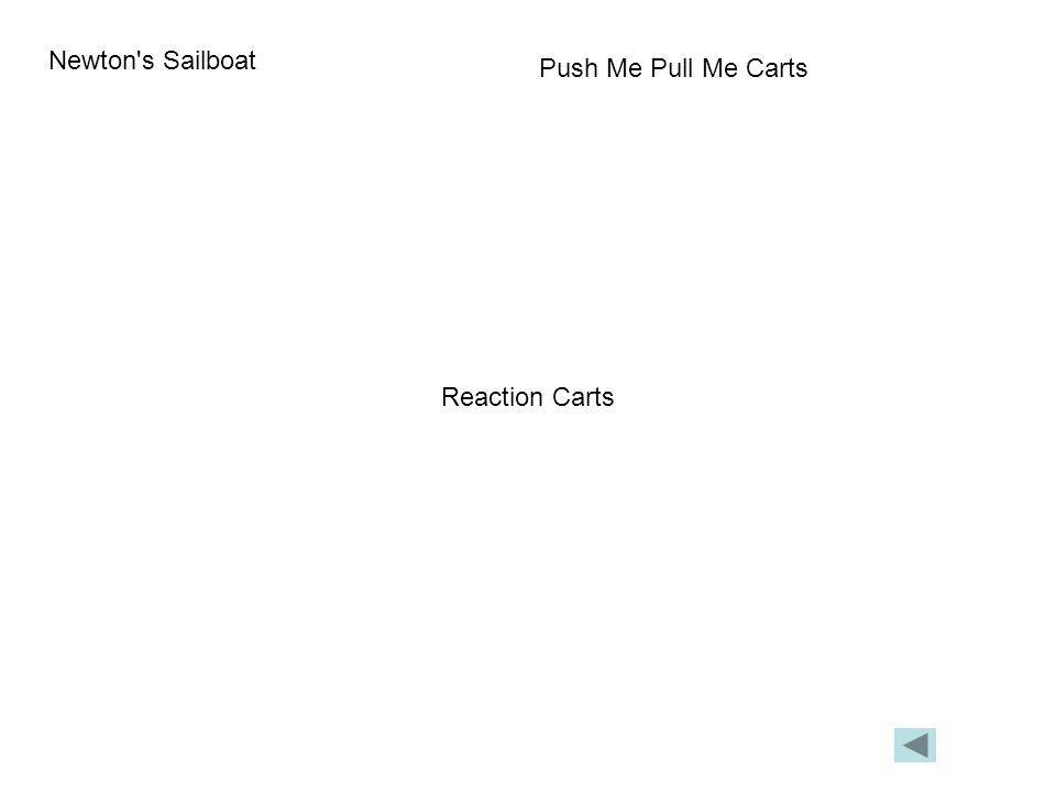 Newton s Sailboat Push Me Pull Me Carts Reaction Carts