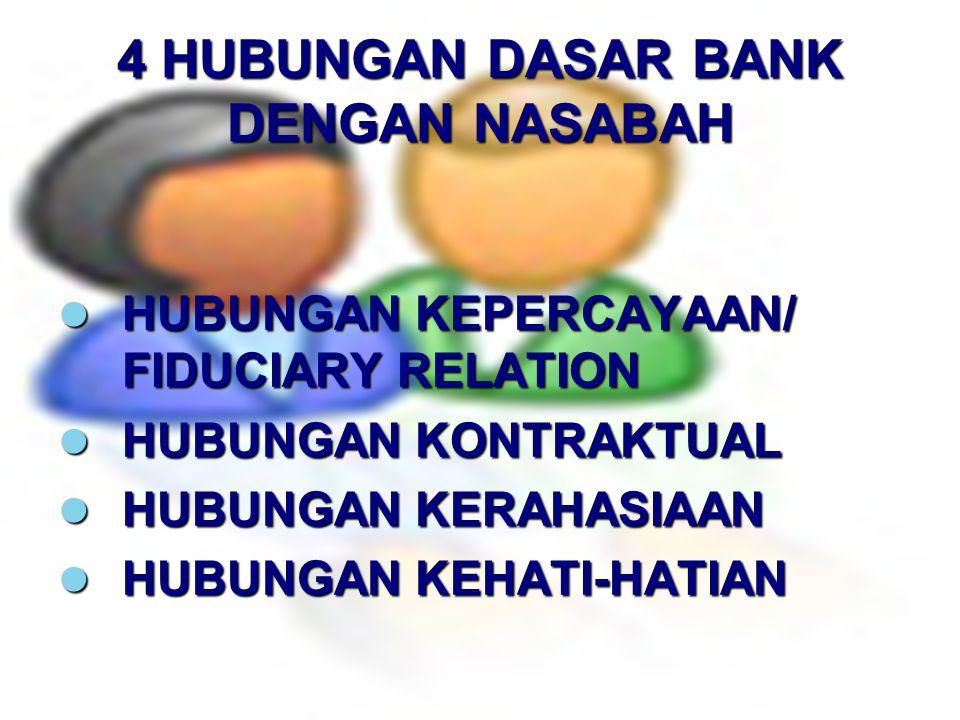 4 HUBUNGAN DASAR BANK DENGAN NASABAH