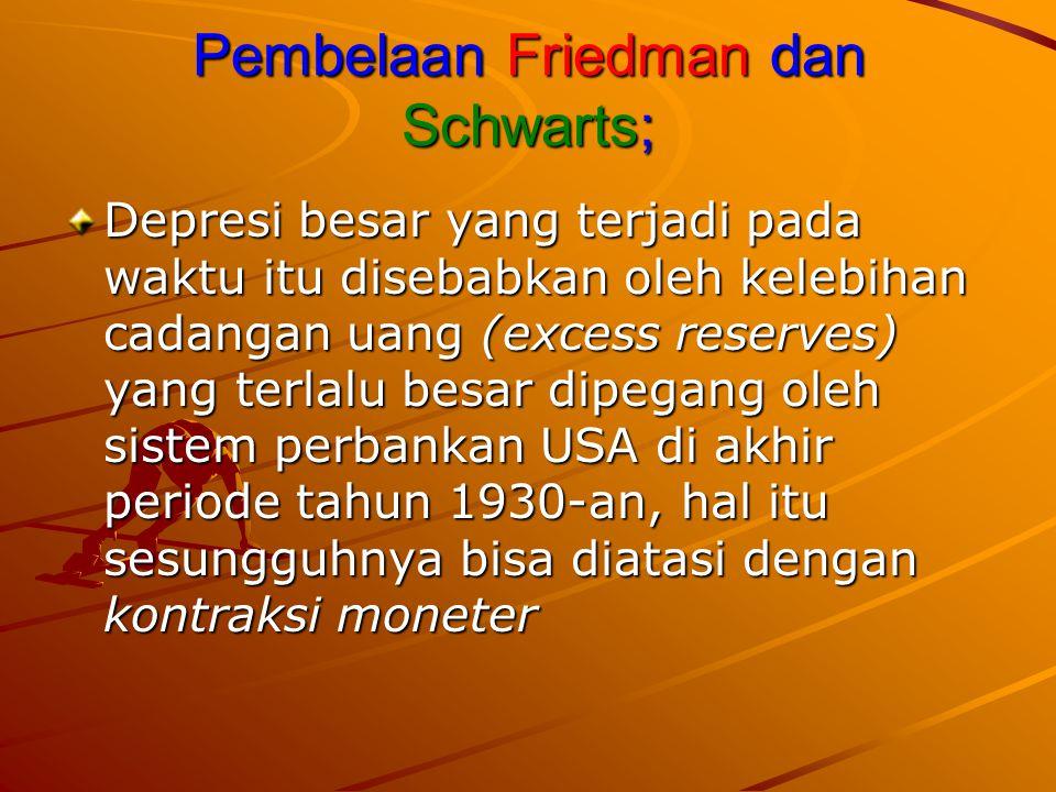 Pembelaan Friedman dan Schwarts;