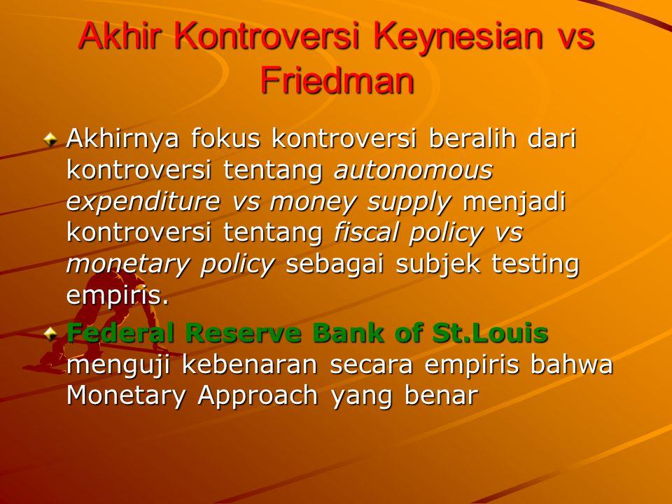 Akhir Kontroversi Keynesian vs Friedman