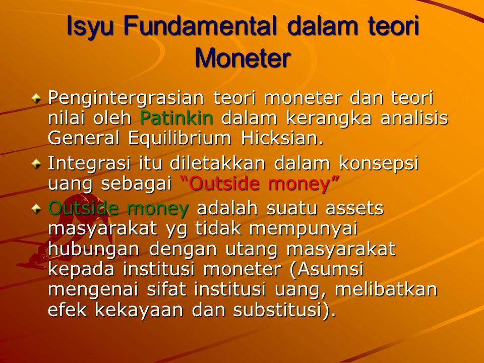 Isyu Fundamental dalam teori Moneter