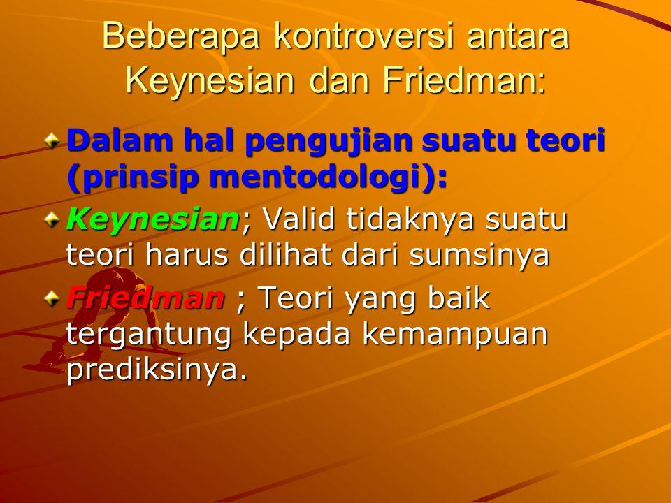 Beberapa kontroversi antara Keynesian dan Friedman: