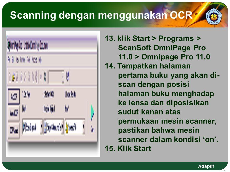 Scanning dengan menggunakan OCR