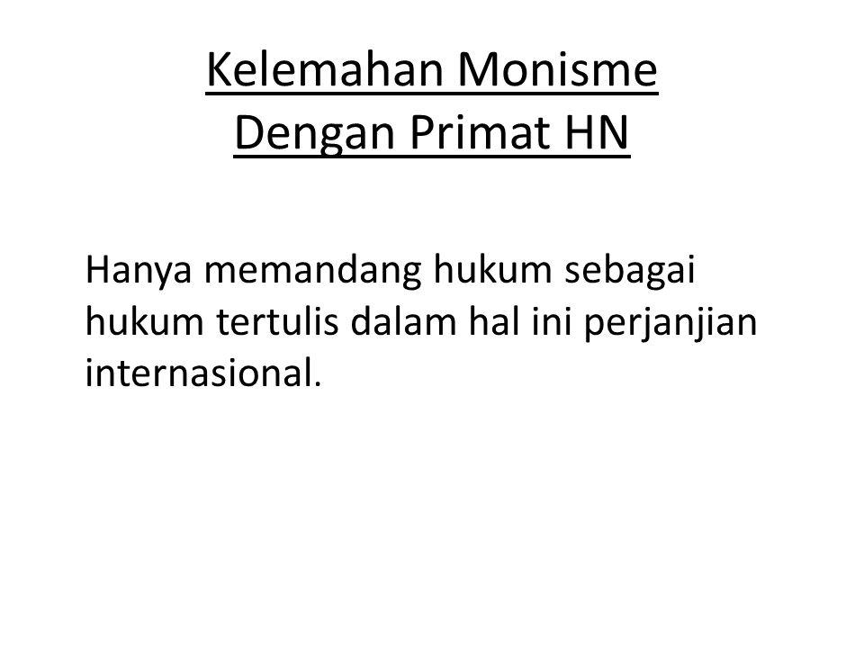 Kelemahan Monisme Dengan Primat HN