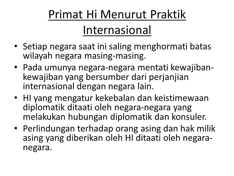 Primat Hi Menurut Praktik Internasional
