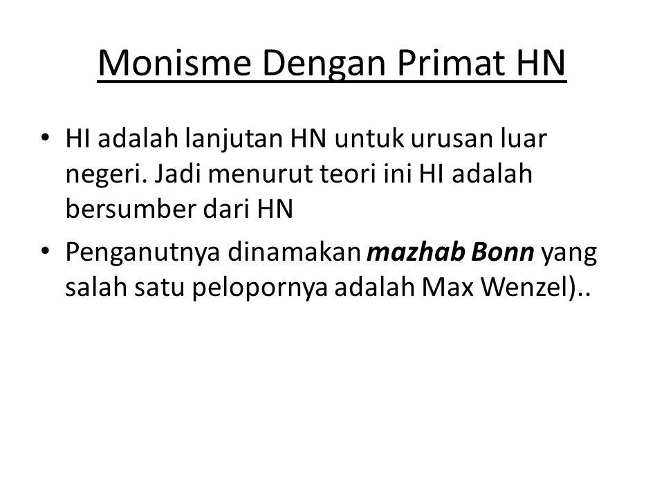 Monisme Dengan Primat HN