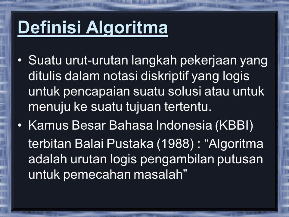 Definisi Algoritma