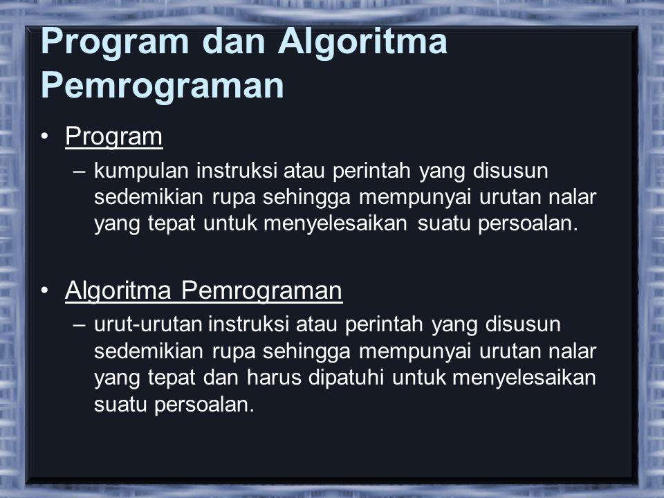 Program dan Algoritma Pemrograman