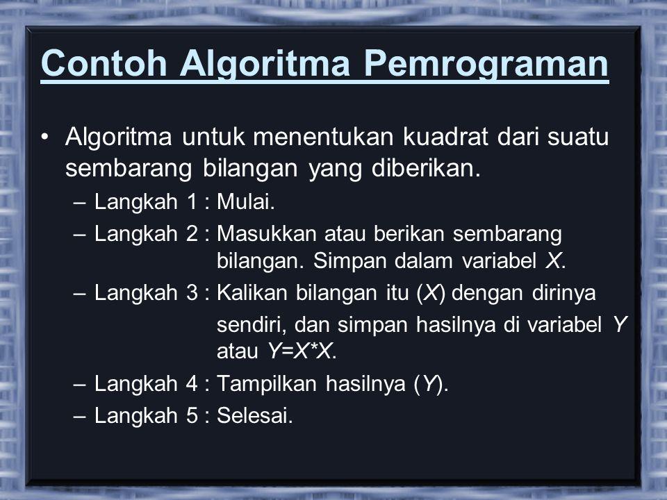 Contoh Algoritma Pemrograman