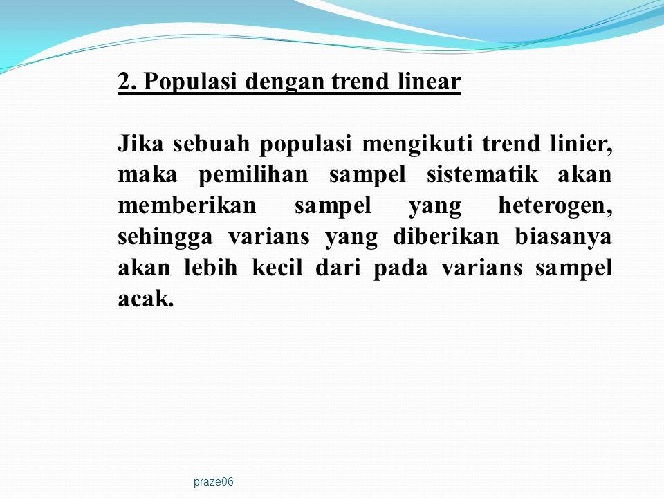 2. Populasi dengan trend linear