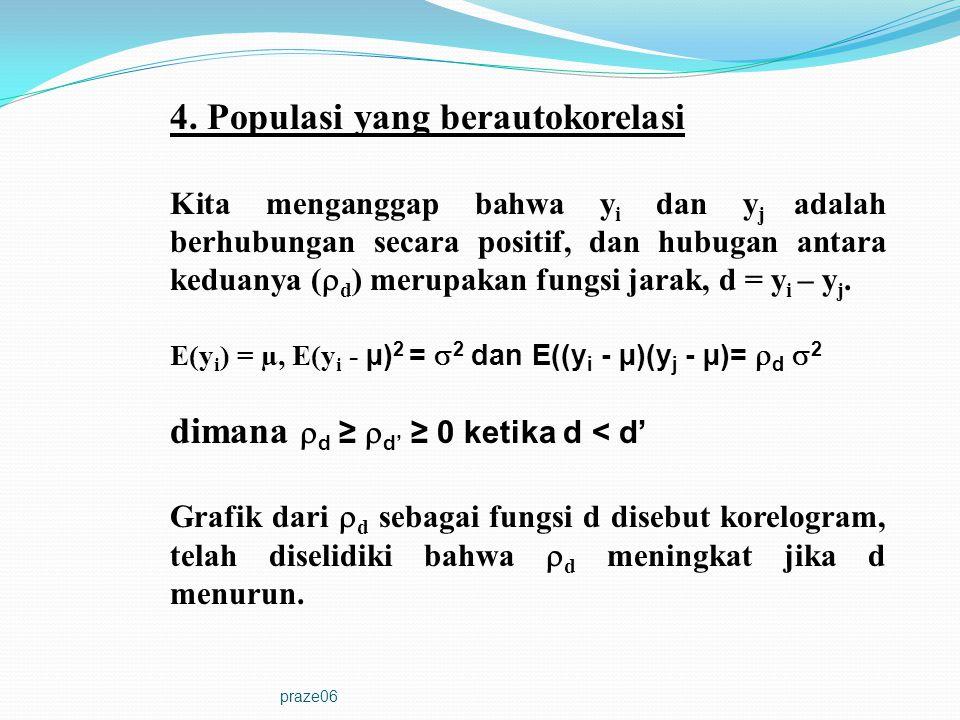 4. Populasi yang berautokorelasi