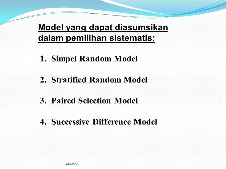 Model yang dapat diasumsikan dalam pemilihan sistematis: