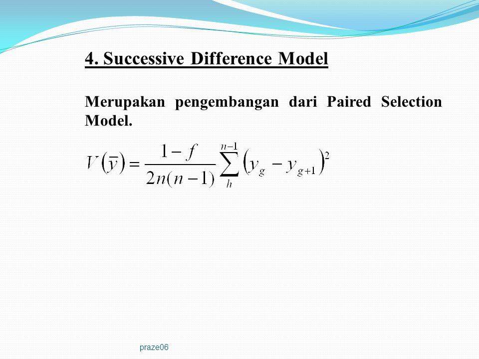 4. Successive Difference Model