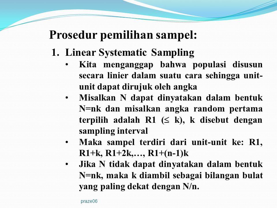 Prosedur pemilihan sampel: