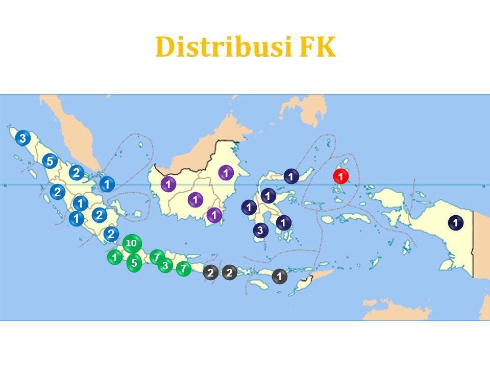 Distribusi FK 3 5 2 1 1 1 1 1 2 1 1 1 1 2 1 1 1 1 3 2 10 1 7 5 3 7 2 2 1