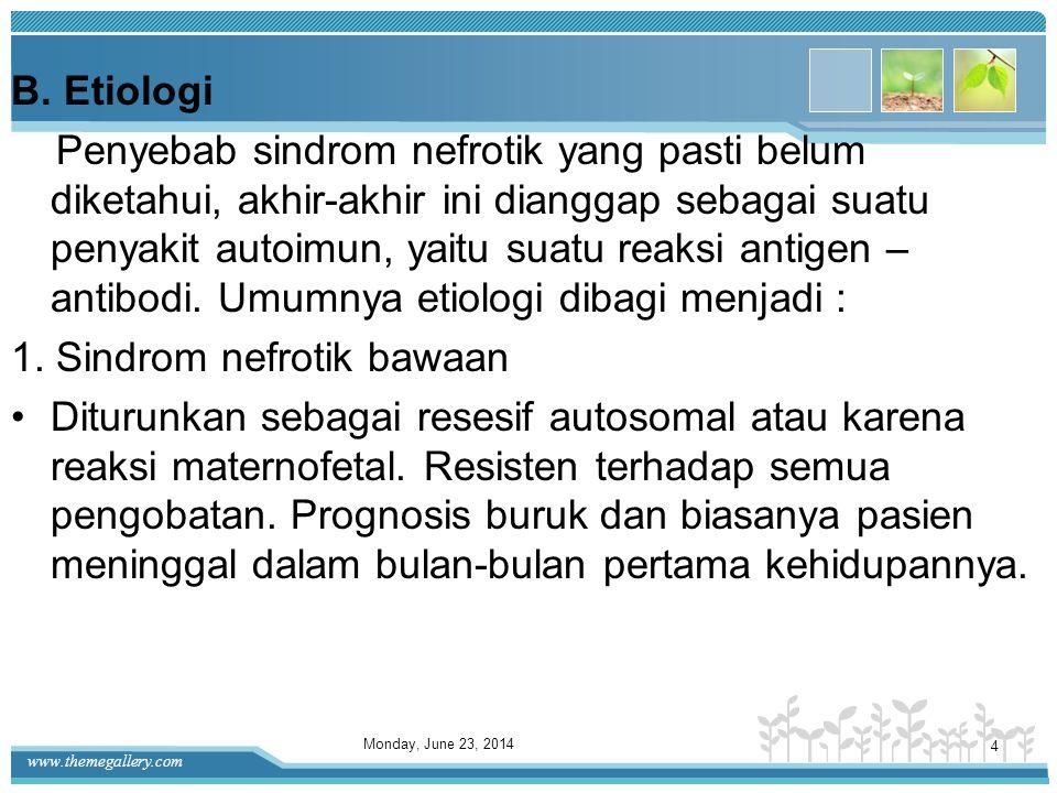 1. Sindrom nefrotik bawaan