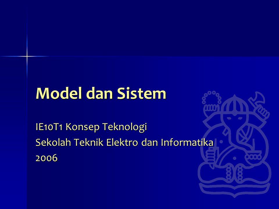 IE10T1 Konsep Teknologi Sekolah Teknik Elektro dan Informatika 2006