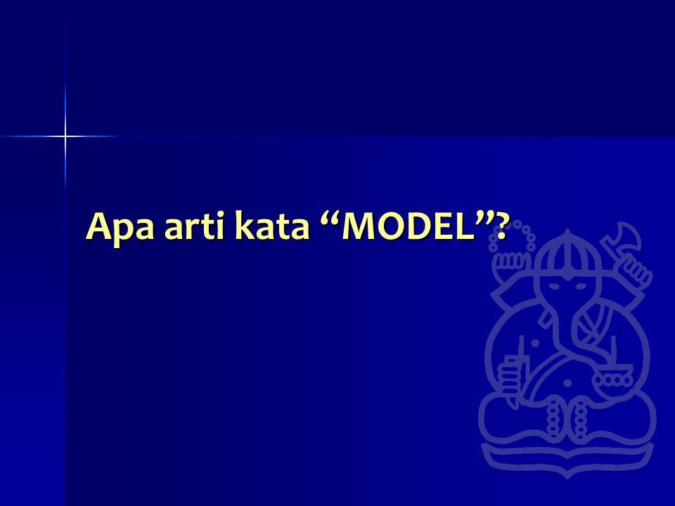 Apa arti kata MODEL