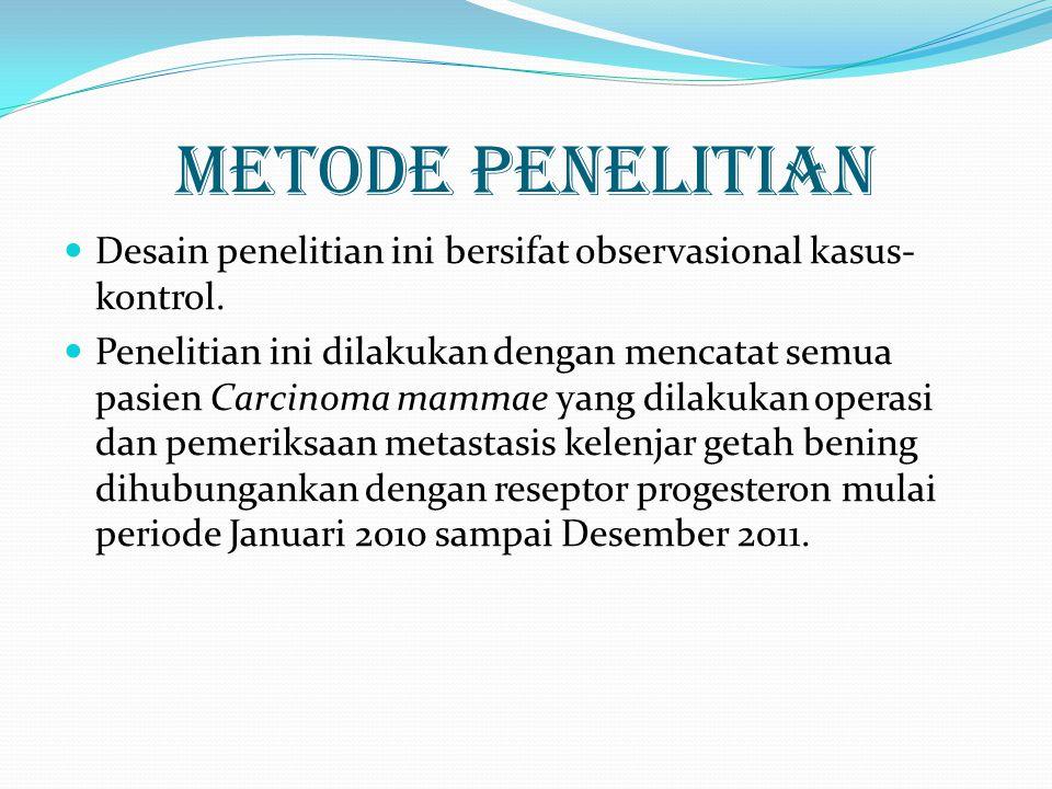 METODE PENELITIAN Desain penelitian ini bersifat observasional kasus-kontrol.