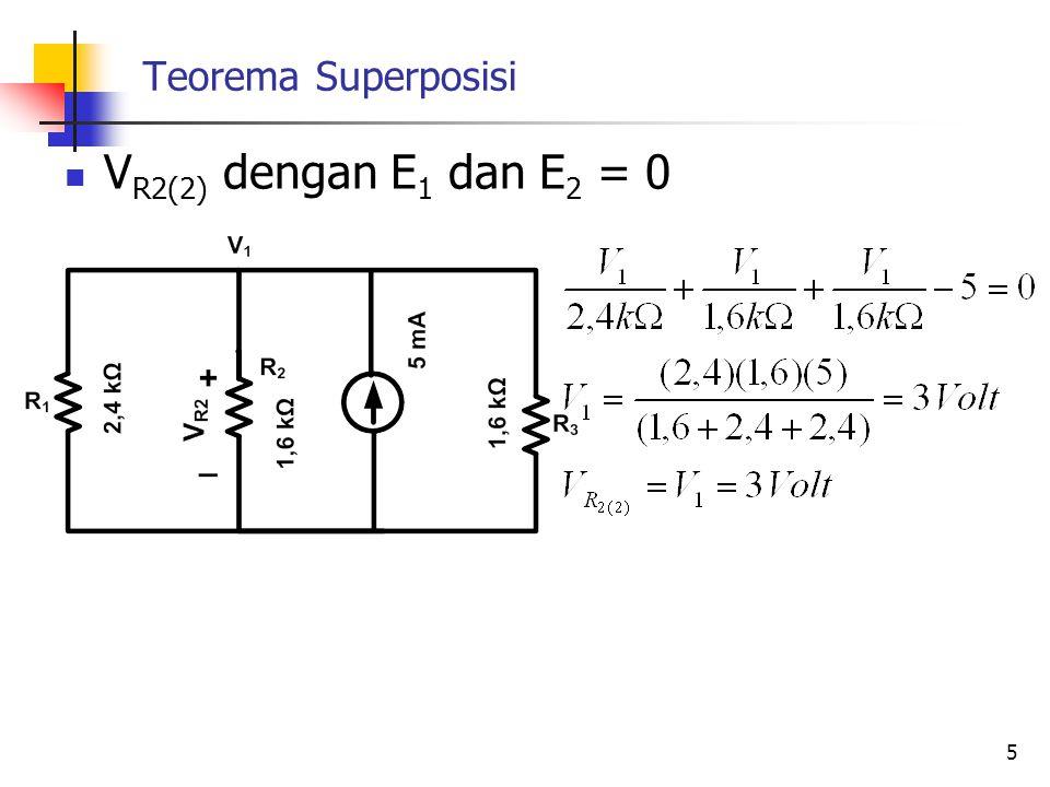 Teorema Superposisi VR2(2) dengan E1 dan E2 = 0