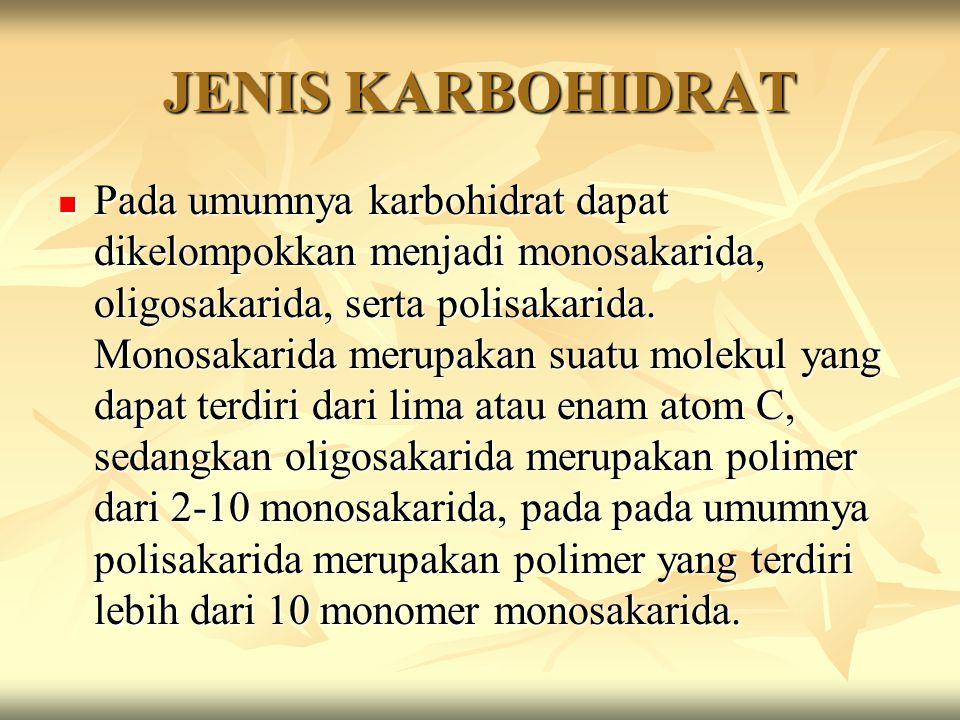 JENIS KARBOHIDRAT