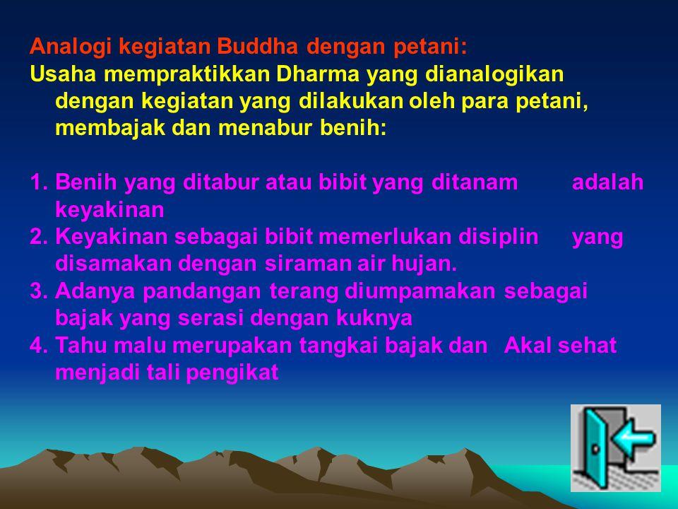 Analogi kegiatan Buddha dengan petani: