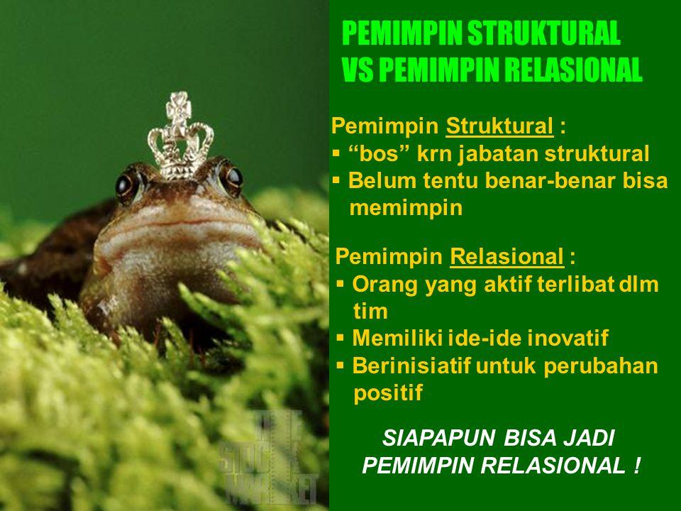 PEMIMPIN STRUKTURAL VS PEMIMPIN RELASIONAL
