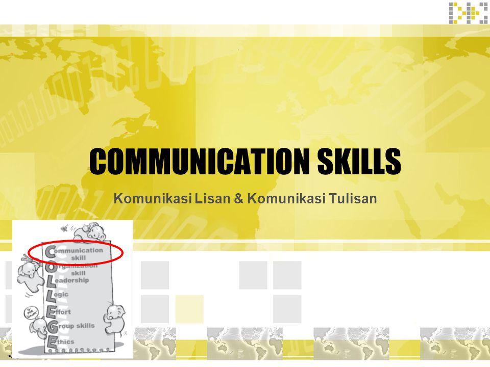 Komunikasi Lisan & Komunikasi Tulisan