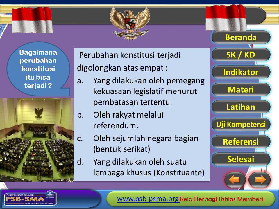 Bagaimana perubahan konstitusi itu bisa terjadi