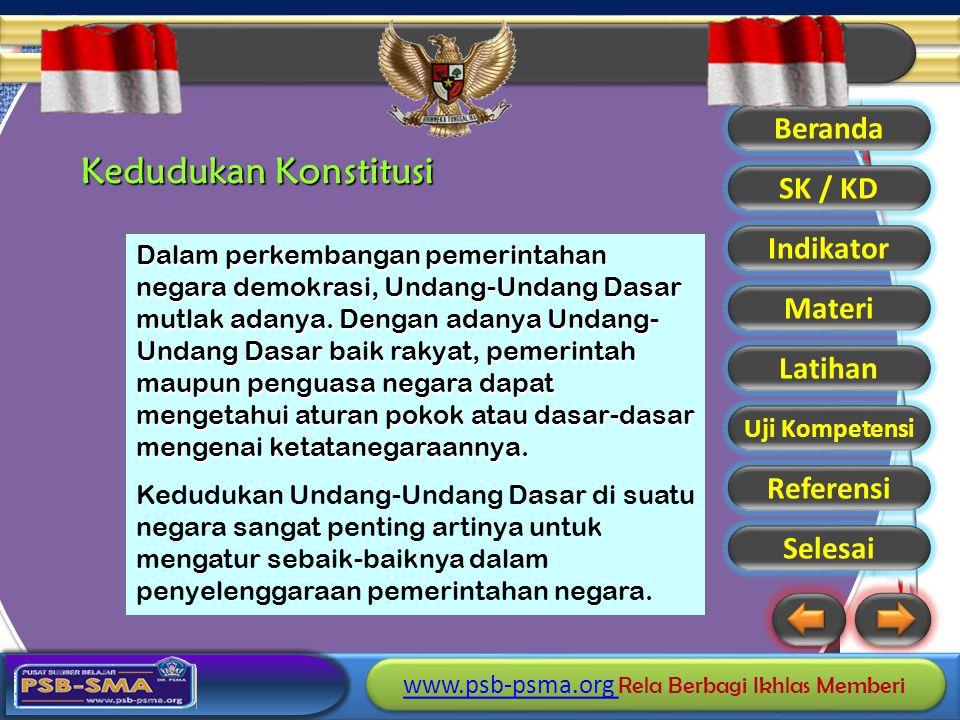 Kedudukan Konstitusi