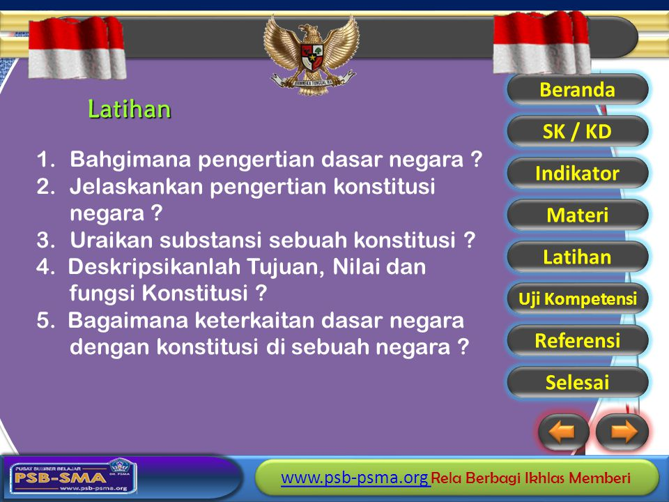 Latihan Bahgimana pengertian dasar negara