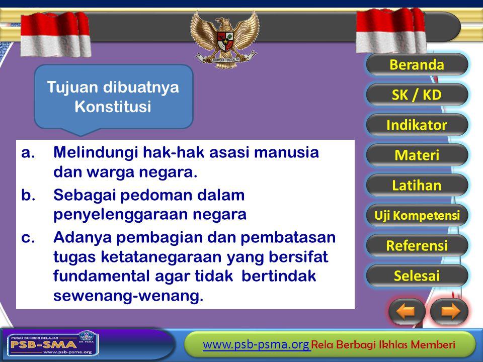 Tujuan dibuatnya Konstitusi