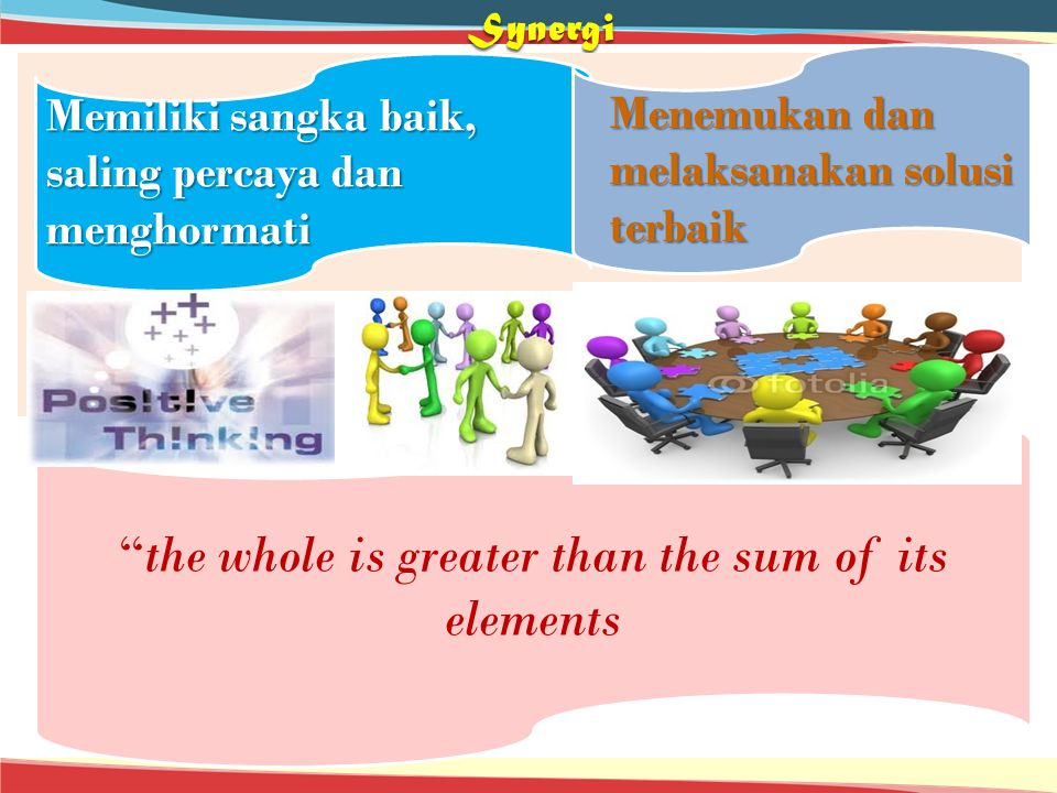 the whole is greater than the sum of its elements