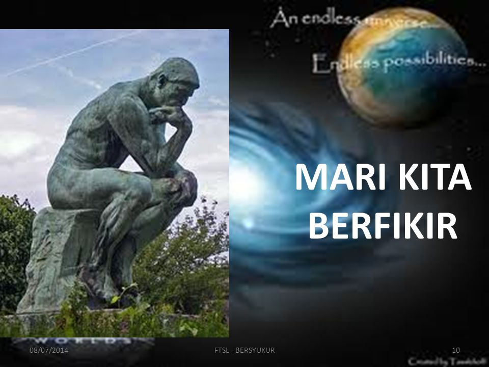 MARI KITA BERFIKIR 03/04/2017 FTSL - BERSYUKUR