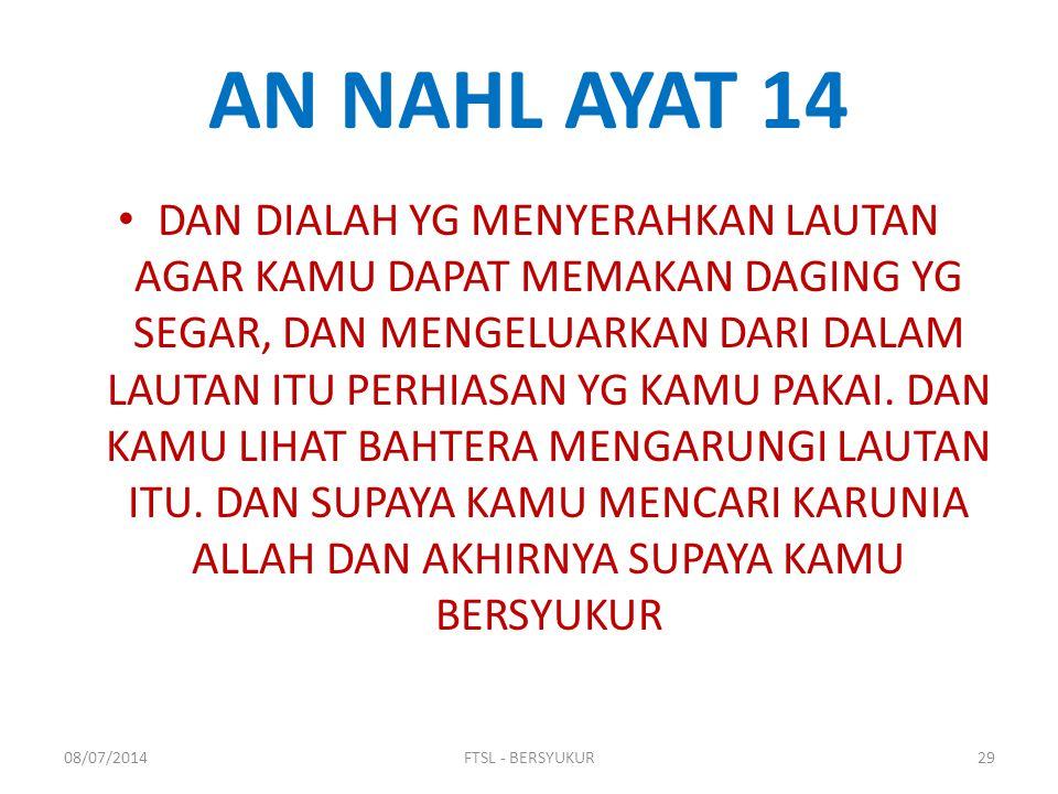 AN NAHL AYAT 14