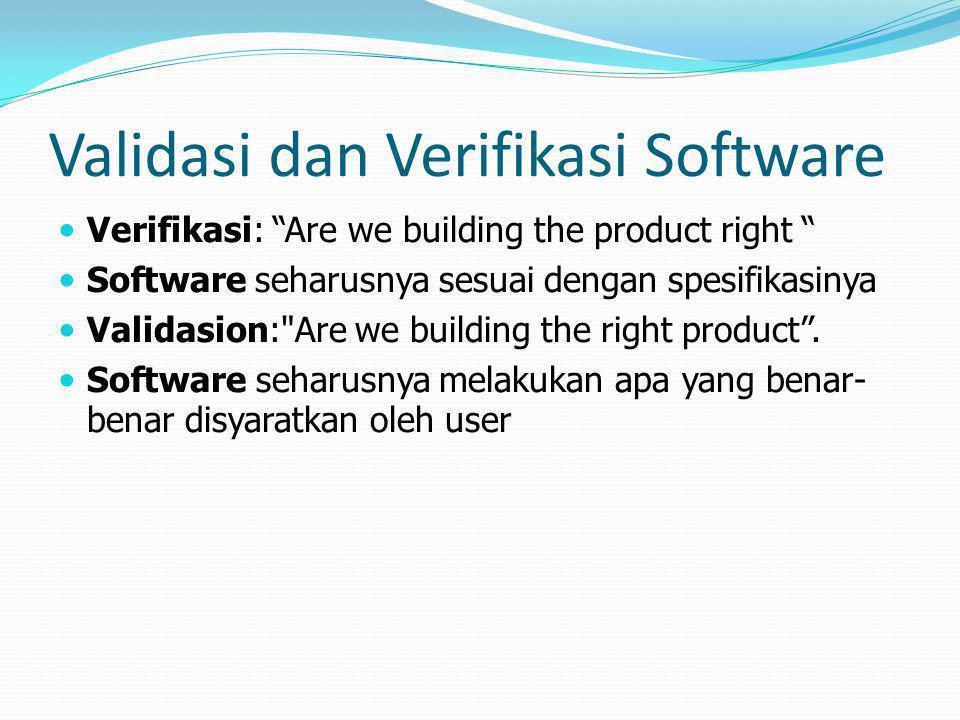 Validasi dan Verifikasi Software