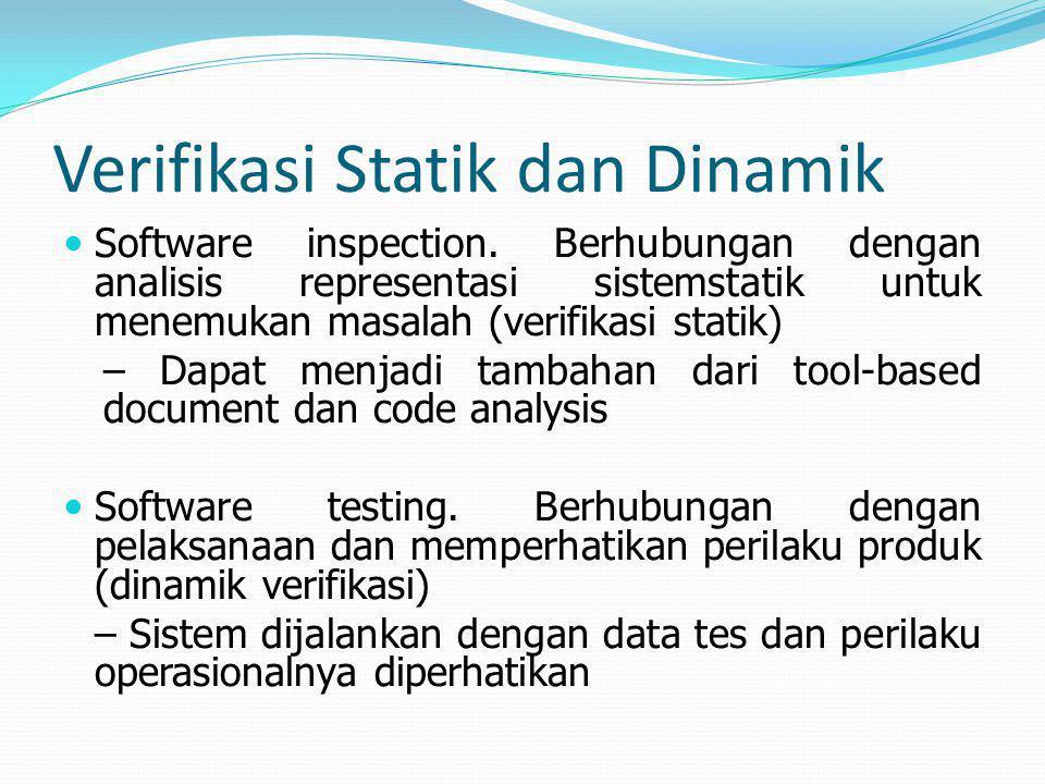 Verifikasi Statik dan Dinamik