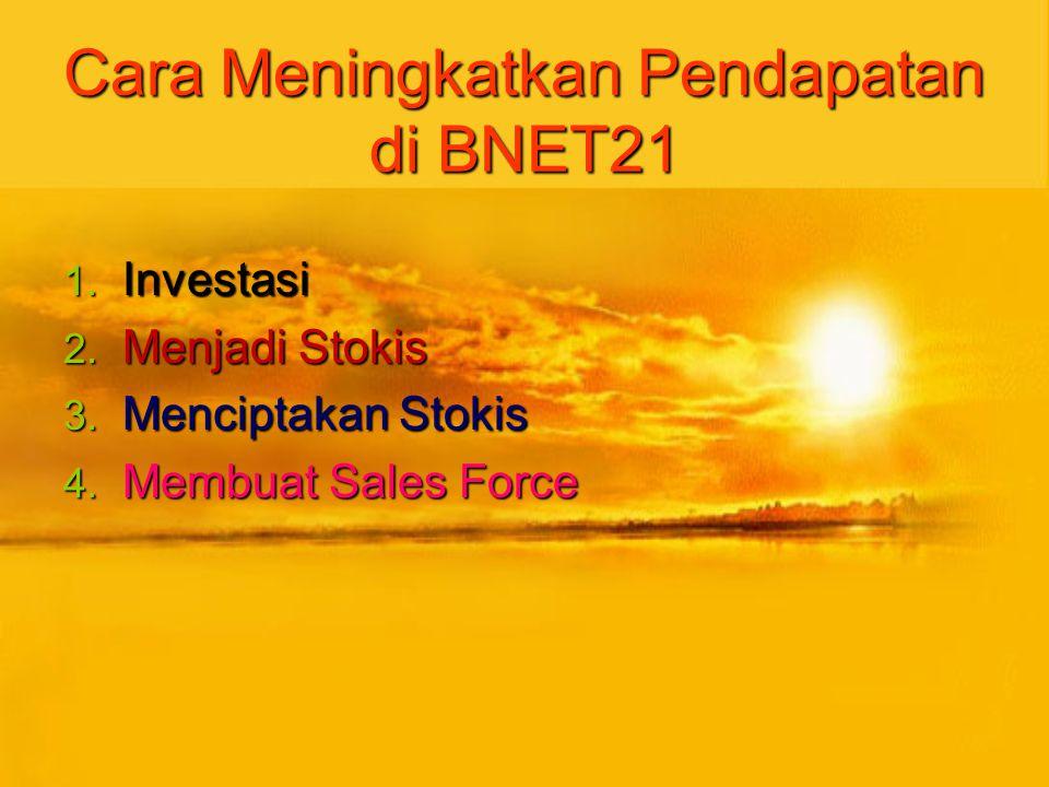 Cara Meningkatkan Pendapatan di BNET21