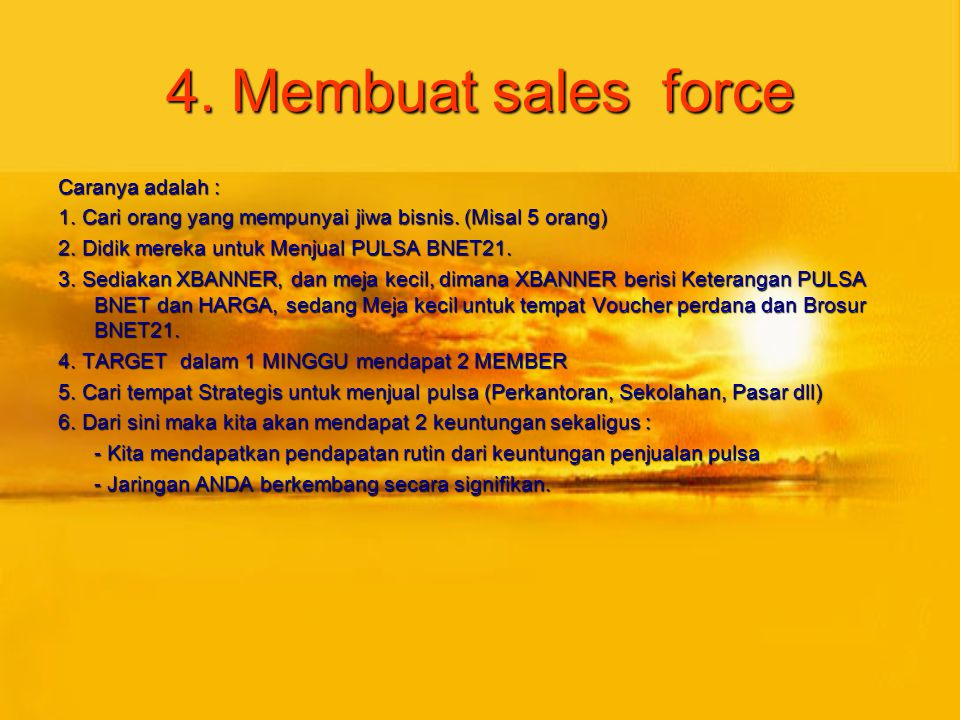 4. Membuat sales force