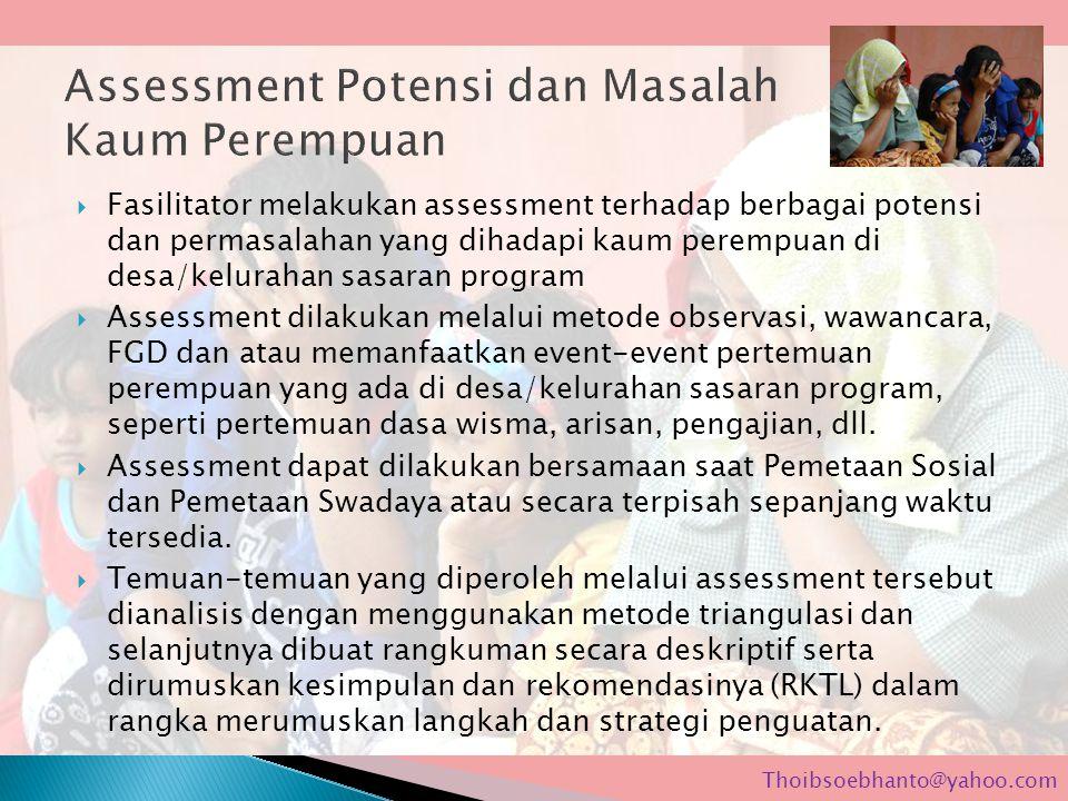 Assessment Potensi dan Masalah Kaum Perempuan