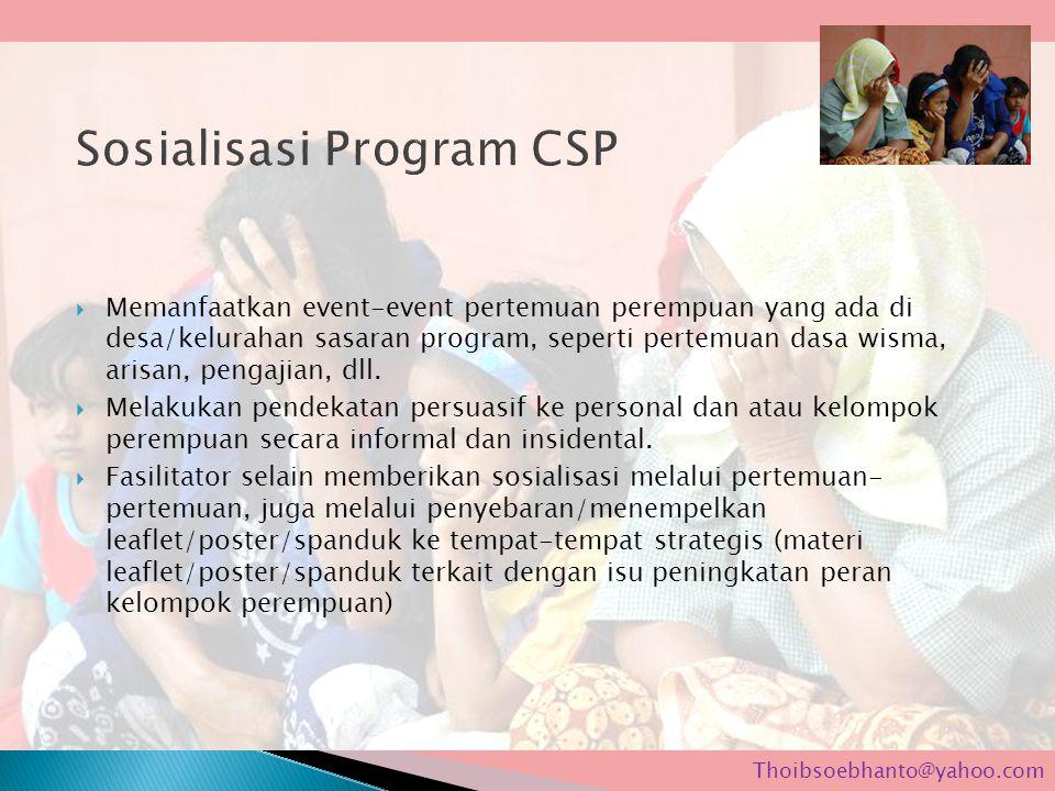 Sosialisasi Program CSP