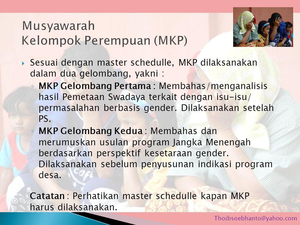 Musyawarah Kelompok Perempuan (MKP)