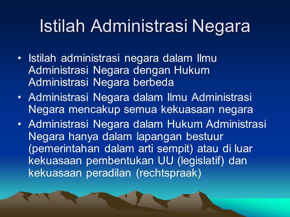 Istilah Administrasi Negara